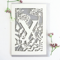 Letter Y card, Personalized letter card, Initial birthday card, Initial card