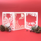 Christmas card, Merry Christmas card, 3D Christmas card, Christmas ornament