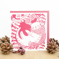 Christmas card, Cat Christmas card, Cute Christmas card, Cat lover card