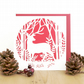 Christmas card, Deer Christmas card, Cute Christmas card, Stag christmas card