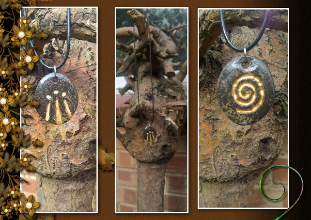 Druid awen pendant folksy druid awen pendant mozeypictures Gallery