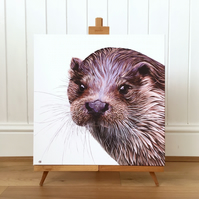 Otter limited edition canvas print - Otter painting