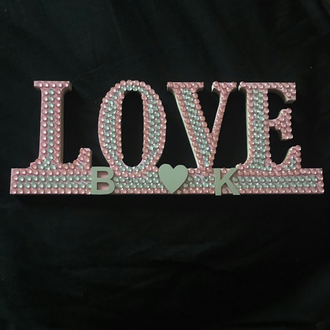 Love wall plaque, freestanding