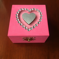 Square Heart Trinket jewellery Box