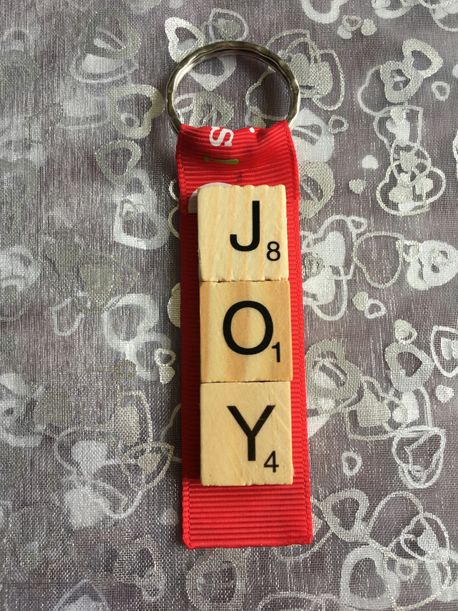 Joy Christmas Keyring, hanging decoration