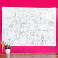 Princess Loopy giant colouring poster.