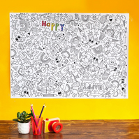 A giant 'favourite things'colouring poster.