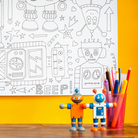 Beep Beep! Giant robot colouring poster