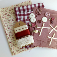 'Mulled Wine' - Fabrics and Embellishments Pack -  Crafts, Supplies, Makers