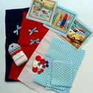 'Surf's Up' Fabric and Embellishment Pack - Craft Supplies, Makers, Hobbies