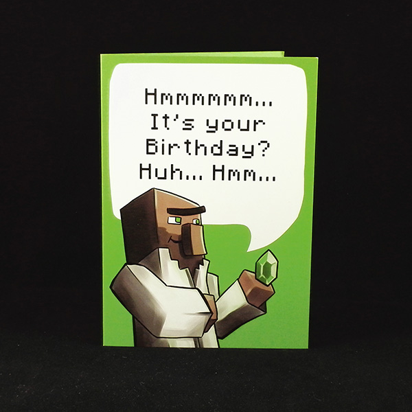 Villager Birthday Wishes - A6 Birthday Card