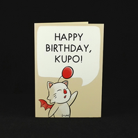 Moogle Birthday Wishes - A6 Birthday Card