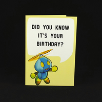 Omochao Birthday Wishes - A6 Birthday Card