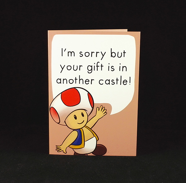 Toad Birthday Wishes - A6 Birthday Card