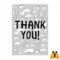Thank You! - A5 Gamer Greeting Card