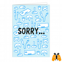 Sorry... - A5 Gamer Greeting Card