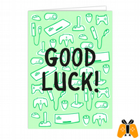 Good Luck - A5 Gamer Greeting Card