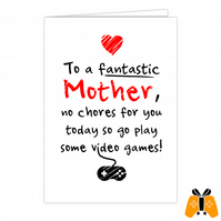 No Chores For You - A5 Mothers Day Card