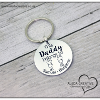 This Daddy belongs to Keyring, Gift for Dad, Daddy, grandad Other, Christmas