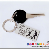 Gift for Daddy, Football keyring, Personalised Keyring for Dad, Fathers Day gift