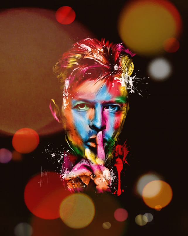 "Aluminium metal wall art ""David Bowie"" db01"