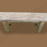 Rustic Handmade Wooden Bench - L-90CM H-45.5CM W-27CM - Light Oak Stain