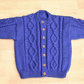 aran style toddlers handknitted cardigan