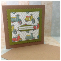 4 HANDMADE MENS  BIRTHDAY CARDS