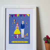 Personalised Anniversary Print  A3