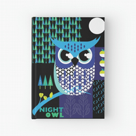 Night owl hardback journal