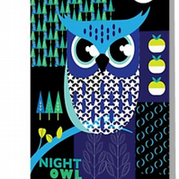 Night owl blank card