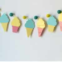 Ice cream cone wall hanging