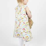 Make your own birdie pinafore dress