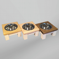 Meduim single dog bowl table, raised dog bowl, raised feeder, dog accessories