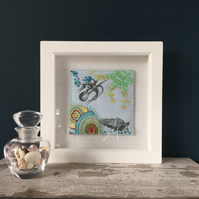 Embroidered Appliqué Picture - Underwater Seascape
