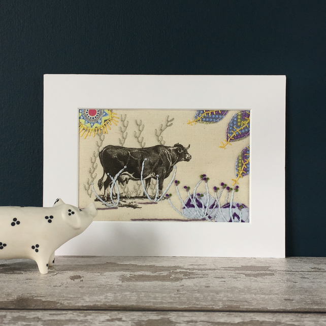 Embroidered Appliqué Picture - Farm Animals