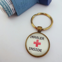 Medical alert,medical jewelry, inhaler inside, asthma jewelry, asthma warning