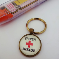 Medical alert,medical jewellry,epipen inside,allergy warning,nut allergy,SOS