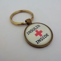 Medical alert, medical jewelry, insulin inside, diabetic alert, diabetes,sos,