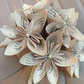 Paper wedding bridal bouquet