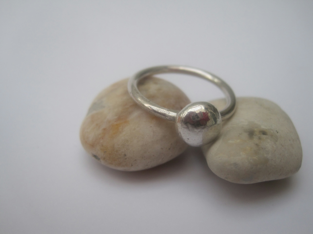 Simple Silver 'Dot' Ring, Silver ring