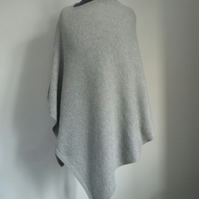 Lambswool and angora poncho or wrap