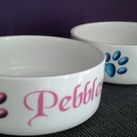 Personalised Cat - Small Dog Bowl