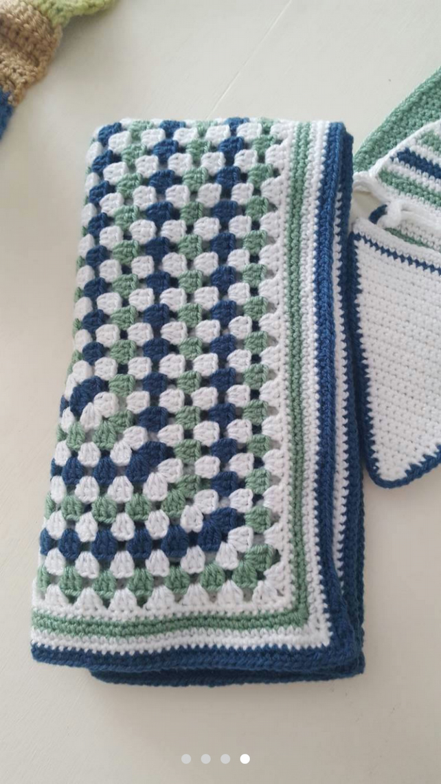 Hand crocheted  blanket  or throw