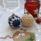 Set of two  Christmas Baubles
