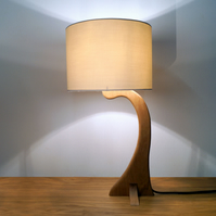 Little Flow handmade solid oak table lamp