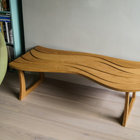 Handmade solid oak Wavy Coffee table
