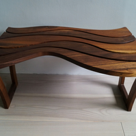 Hand made Solid Walnut coffee side table