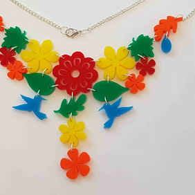 Tropical Dream Necklace - Multi Acrylic