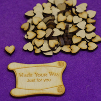 MDF Heart 1cm - 100 x Laser cut wooden shape